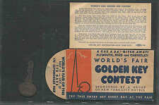 1940 NY WORLDS FAIR WONDER BREAD & HOSTESS CAKE CAR A DAY GIVEAWAY SEE INFO
