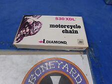DIAMOND CHAIN 530 XDL 110 LINK MOTORCYCLE CHAIN FINAL DRIVE HARLEY CUSTOM # XLO