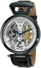 Stuhrling Original 127A2 33X52 Emperor Skeleton Automatic Dual Time Men's Watch
