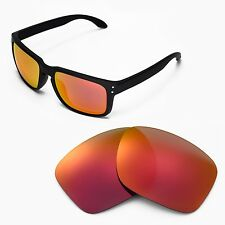 New Walleva Polarized Fire Red Lenses For Oakley Holbrook