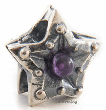 Authentic Trollbeads Silver and Amethyst Called Star of Calmness TAGBE-00221