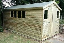 16 x 8 19mm Tanalised & Pressure Treated T&G Apex workshop Shed -Collection only