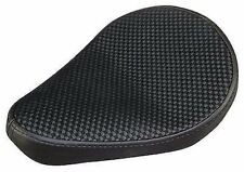 "ULTIMA LEATHER SOLO SEAT 9"" CROSS WEAVE BLACK HARLEY SOFTAIL RIGID BOBBER"