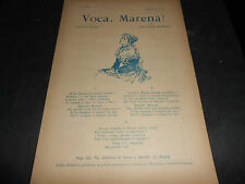 1903 COPIELLA BIDERI NAPOLI CANZONE VOCA MARENA' MUSICA A.MONTAGNA VERSI PUNZO