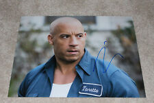 VIN DIESEL SIGNED AUTHENTIC 'FAST & FURIOUS' 11X14 PHOTO B w/COA ACTOR 8 XXX