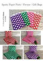 Paper Colour Spotty Dot Spot Party Gift Sweet Favour Bags Pick n Mix Wedding