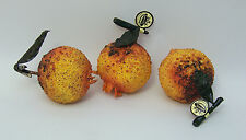 Designer One Assimulated Gold Beaded Artificial Faux Fake Pomegranate Fruit