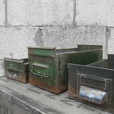 Vintage Industrial Metal Drawers Storage Shop Window Display Boxes1940s Stacking