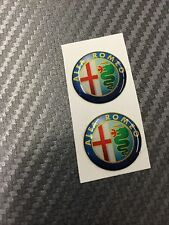 2 Adesivi Stickers ALFA ROMEO New Color 30 mm 3D resinati auto