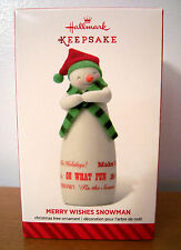 "Hallmark 2014 Exclusive ""Merry Wishes Snowman"" - Customer Appreciation  Gift"