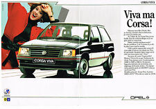 PUBLICITE ADVERTISING 034   1986   OPEL   CORSA  VIVA   ( 2 pages)