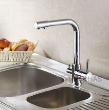 Luxury 3 Way Kitchen Sink Faucet Mixer Tap with Pure Drink Water Supply Spout 31