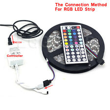 5M 300LED SMD 5050 RGB Waterproof Flexible Strip Light + Remote +EU Power Supply