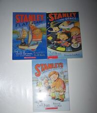 Lot of 3 books Stanley's Christmas Adventure by Jeff Brown In Space Flat Again