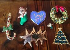 Rare! Vintage Lot Christmas Pins 1 signed Art Lotto Spille Natale (lot 15)