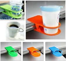 New Drink Cup Party Coffee Glass Cup Holder Stand Clip Desk Table Home Office Mo