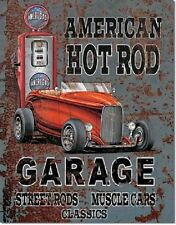 American Hot Rods Rat Rod Vintage Retro Garage Muscle Car Metal Tin Sign New