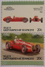 1936 MASERATI 8 CTF BOYLE SPECIAL Car Stamps (Leaders of the World / Auto 100)