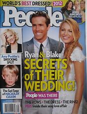 RYAN REYNOLDS & BLAKE LIVELY WEDDING Sept. 2012 PEOPLE Magazine AMY POEHLER