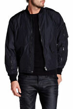 Diesel J-Megus Bomber Jacket Windbreaker Black Mens Size M New