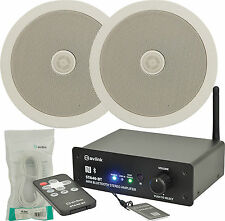 PACKAGE BLUETOOTH STEREO AMPLIFIER 2 x CEILING SPEAKERS + 10M CABLE 952.534