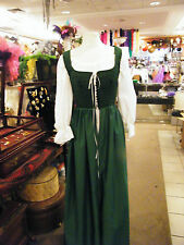 renaissance handmade green OVER DRESS ONLY many sizes theater quaility