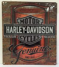 Ande Rooney HARLEY DAVIDSON OIL CAN LABEL Tin HD Motorcycle Garage Sign 2010931