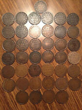 1859 TO 1920 COMPLETE SET OF CANADIAN LARGE CENTS (41 COINS) LOOOOK !!!