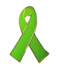 Non Hodgkin's Lymphoma Lime Green Awareness Ribbon Pin New