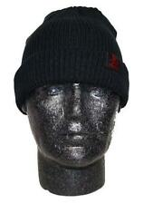 Black Hatman Woven Label Beanie Hat
