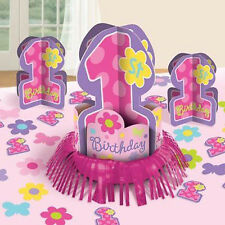 1st BIRTHDAY GIRL TABLE DECORATING KIT (23pc) ~ First Party Supplies Centerpiece