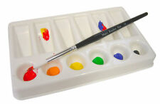 ARTIST PAINT MIXING PALETTE 6 ROUND & 6 SLOPING SHALLOW WELLS 19cm x 12cm 7002