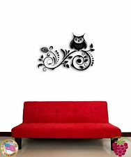 Wall Sticker Tree Branch Owl For Kids Cool Decor for Nursery z1367