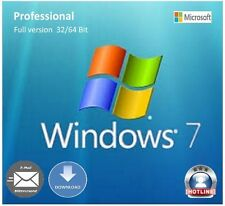 Microsoft MS windows 7 professionnel 1pc 64/32-bit original