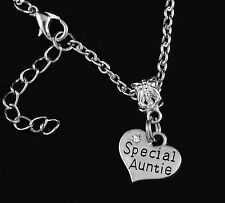 Special Auntie necklace Jewelry Best gift  sliver
