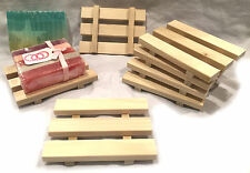 45 natural poplar wood soap dishes - handcrafted in USA - Wholesale LOT