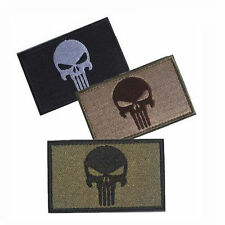 3PCS Aufnäher Patch Klett Punisher Totenkopf Tactical Tac Prepper EDC Bushcraft