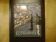 Economics Hardcover 3rd Edition by Paul Krugman Complimentary Copy