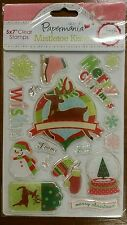 Clear Stamps, Docrafts Mistletoe Kisses Christmas Scrapbooking, Stamping, Craft.
