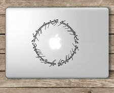 Elvish Script Lord of the Rings - Apple Macbook Laptop Vinyl Sticker Decal