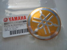 2 x Yamaha Retro Cafe Racer Tank Emblem Sticker Decal 55mm GOLD *GENUINE YAMAHA*