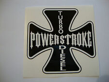 "2 X POWER STROKE STICKERS  4"" TURBO DIESEL TRACTOR 4X4 QUAD FARMERS VEHICLES"