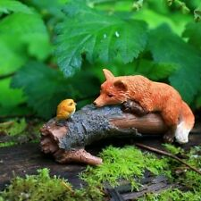 Miniature Fairy Garden Playful Red Fox with Bird TO 4277 /Gnome Hobbit  Figurine