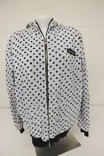 Burton Black & White Reversible Zip-Front Hoodie Women's Large Fast Shipping