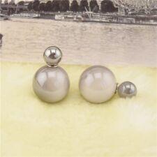 Elegant Jewelry Double Sided Pearl Earrings Ear Stud Big Ball Women Ball Jewelry