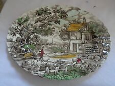 "Transferware Myott ""The Hunter"" Mutti-Colored Platter"