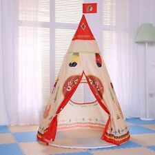 Kids Play Tent Indoor Outdoor Playhouse Clubhouse Indian Teepee Portable Pop-up