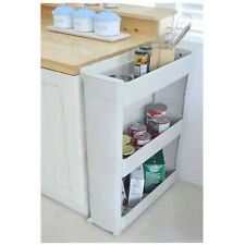 Rolling 3 Shelf  Slim Can Spice Rack Holder Cart  Kitchen Storage Cabinet NEW