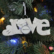 Engaged Love Wedding Personalized Christmas Tree Ornament