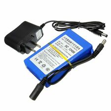 DC12V 4000mAh Super Rechargeable Portable Li-ion Battery w/ Plug for CCTV Camera